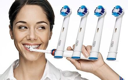 Náhradné hlavice na elektrické zubné kefky 4 ks