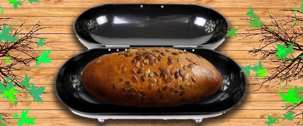 RETRO oceľový chlebník
