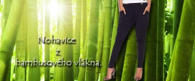 Trendové dámske nohavice z bambusového vlákna