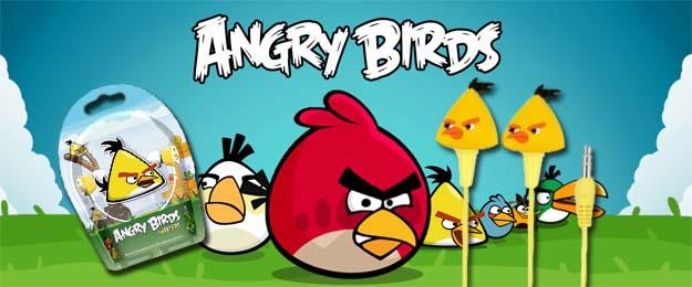 Dve sady slúchadiel Angry Birds