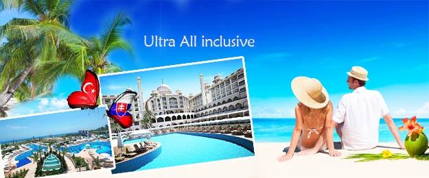 Ultra All Inclusive dovolenka na 8 dní do Turecka s leteckou dopravou