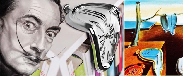 Dizajnové hodiny a lá Salvador Dalí