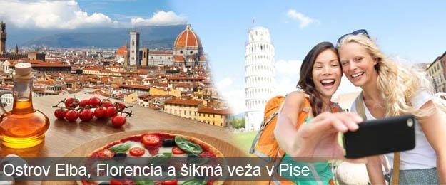 Ostrov Elba, Florencia a šikmá veža v Pise - 4-dňový zájazd