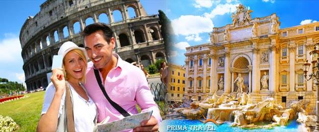 Prázdniny v Ríme s oddychom pri mori
