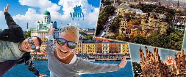 Vydajte sa s CK Adria Travel na jedinečný poznávací zájazd do pobaltstkých krajín a objavte nádherné miesta vo Fínsku, Litve, Lotyšsku či Estónsku. To všetko len teraz s neodolateľnou zľavou až 39%! Doprava a ubytovanie v cene kupónu!
