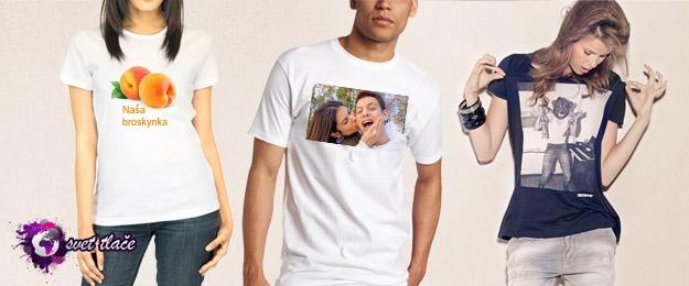 Bavlnené tričko s vlastnou potlačou