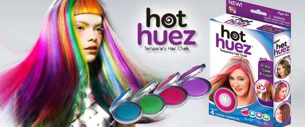 Hot Huez - zmývateľné farby na vlasy 4 kusy