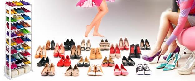 Regál na odkladanie obuvi
