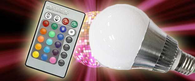 LED žiarovka s diaľkovým ovládačom
