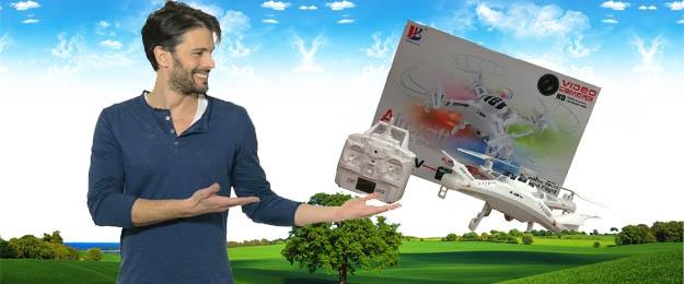 Kvalitný dron s HD kamerami a čítačkou kariet