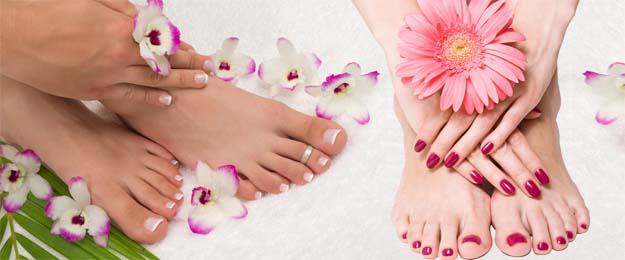 Krásne gélové nechty na nohách a rukách