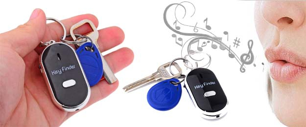 Key finder - hľadač kľúčov, ktorý reaguje na písknutie