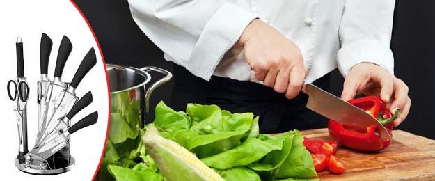 8-dielna sada kuchynských nožov so stojanom