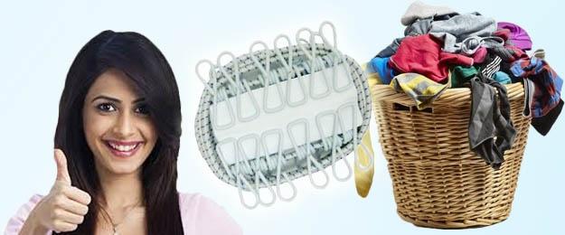 Prenosná šnúra na prádlo s klipmi na vešanie