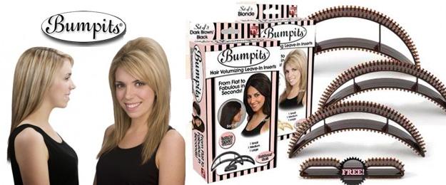 BUMPITS - vlasové vsuvky (5 spon v balení)