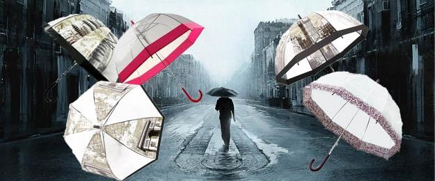 Transparentný dáždnik 2 kusy v balení