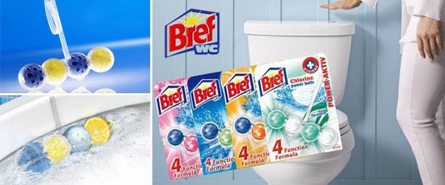 Sada 10 balení WC blokov BREF