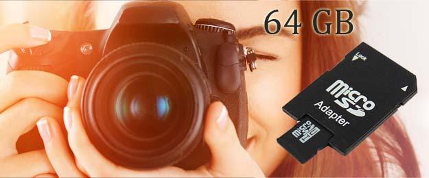 Pamäťová karta micro SD 64 GB + adaptér