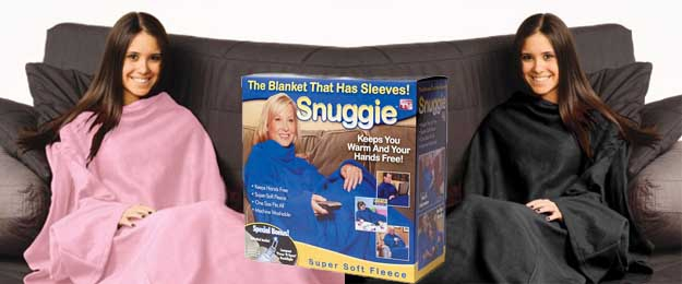 Snuggie deka s rukávmi pre príjemné večery v teplúčku