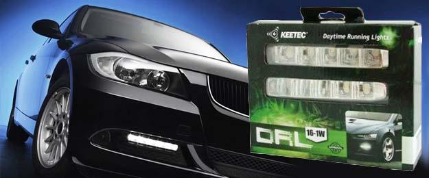 Homologizované denné svietenie značky KEETEC DRL-16 pre všetky typy áut