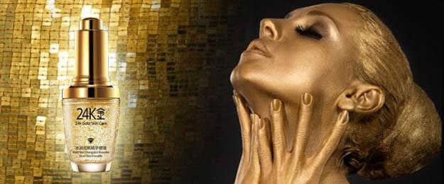 Luxusné zlaté sérum s kúskami z pravého 24K zlata