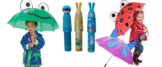 Veselé detské dáždniky v rôznych motívoch pre dievčatá i chlapcov