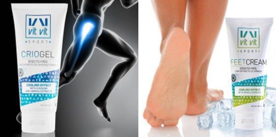 Chladivý kryogel alebo krém na nohy s chladivým efektom