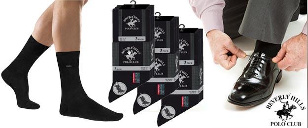 3 páry ponožiek značky Beverly Hills Polo Club