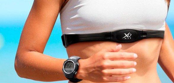 Hrudný pás s pulzomerom a športovými hodinkami
