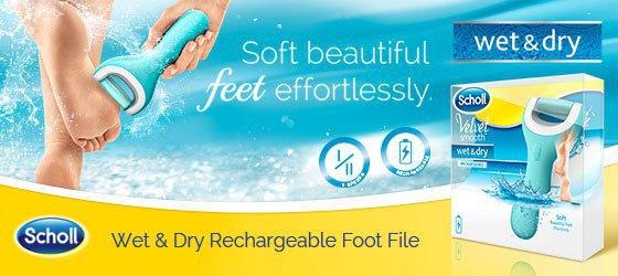 Velvet Smooth Wet & Dry - elektrický pilník na chodidlá
