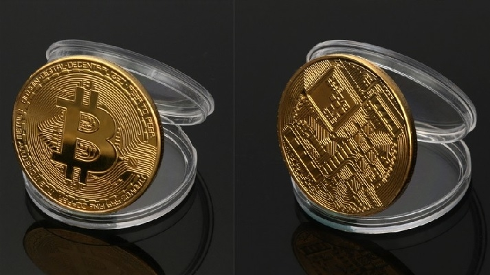 BITCOIN - zberateľská pamätná minca