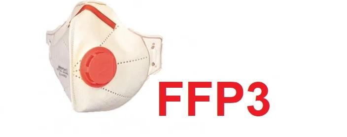 Ovhrana pred koronavírusom s maskou FFP3 s ventilom