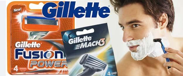 Náhradné hlavice GILLETTE MACH 3 alebo GILLETTE FUSION POWER