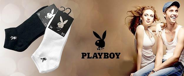 Exkluzívne členkové ponožky Playboy 3 páry