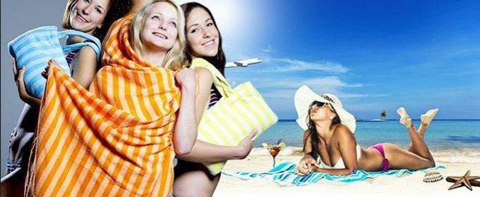 Rýchloschnúca plážová osuška a taška v jednom