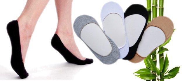 5 párov bambusových ponožiek do balerínok