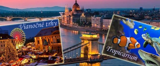 Zájazd do predvianočnej Budapešti s návštevou Tropikária