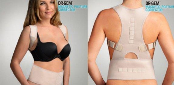 Dámsky korzet pre správne držanie tela alebo pás na rovnanie chrbta